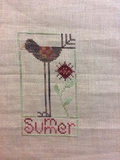 Heart in hand cross stitch