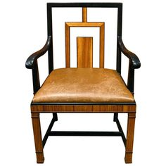 Swedish Art Deco Arm/Desk Chair by Gustav Bergstrom ca. 1930 | From a unique collection of antique and modern office chairs and desk chairs at http://www.1stdibs.com/furniture/seating/office-chairs-desk-chairs/
