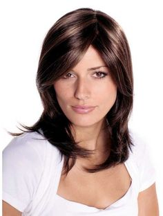 Best Brown Straight Long Synthetic Wigs CSAD0016
