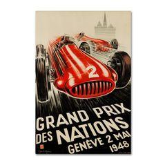 Trademark Fine Art 'Racecar 7' Canvas Art by Lantern Press, Red