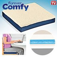 Forever Comfy (TM) Cushion - Delivers maximum comfort and support! Amazingly cushy seat cushion is made with a gel core surrounded by two layers of high-density foam. $26.98 CAD