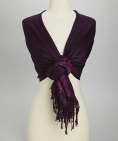 Take a look at this Fuchsia & Burgundy Kani Silk-Blend Pashmina Scarf by Rapti on #zulily today!