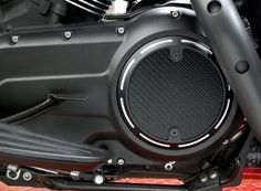 Slotted Style Black Carbon Fiber Derby Cover for Victory Motorcycle Freedom Engines