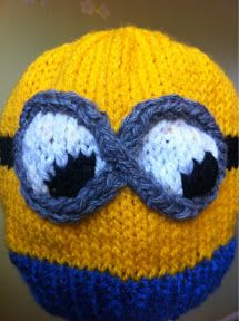"""At Home with the Lunchbox Guru: """"Despicable Me"""" Minion Hat 2 - Knitting Pattern"""