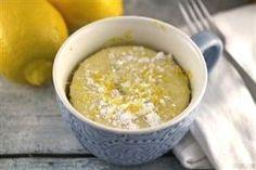 Mug Cake au citron Weight watchers, une recette facile et rapide pour préparer un gâteau délicieux et moelleux au citron. #CakeDecoratingFrosting #Frosting