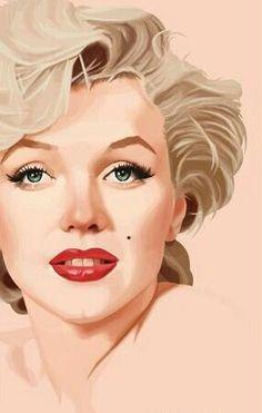 "Marilyn Monroe digital painting by ""LorenzoDiMauro"" on deviantArt Marilyn Monroe Kunst, Marilyn Monroe Drawing, Marilyn Monroe Artwork, Zeichnung Marilyn Monroe, Pin Up, Modelos Fashion, Glamour, Norma Jeane, Celebs"