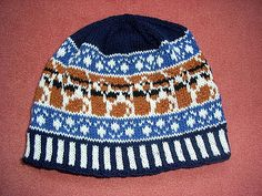 knitted beagle hat