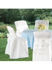 White Folding Chair Covers - Party City (OMG!!! Renting them costs almost as much for 1!!!)