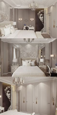 67 gray bedroom ideas that you need see 65 Master Bedroom Interior, Luxury Bedroom Design, Bedroom Green, Home Decor Bedroom, Luxury Interior, Interior Design Living Room, Bedroom Ideas, Wood Bedroom, Bedroom Furniture