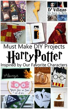 Love these character specific DIY craft tutorials, book lists and more based on different Harry Potter characters (Snape, hermione, Luna, and more)
