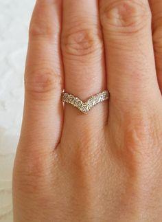 Art Deco Royal Antique Crown Nine Diamond 9ct Gold by MissFoxine