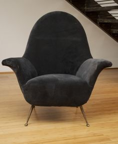 Attirbuted to Ico Parisi - Pair of Lounge Chairs | From a unique collection of antique and modern armchairs at http://www.1stdibs.com/furniture/seating/armchairs/