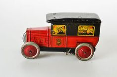#Antique Tin Toy# Pre War Rossignol Fire Engine France Carette Biscuit JEP