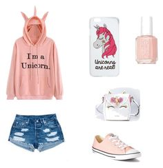 Unicorn Outfit by avarose2224 on Polyvore featuring polyvore fashion style Converse Miss Selfridge Essie clothing