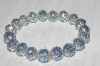 Periwinkle Blue Swarvoski Crystal Stretch Bracelet Free Shipping