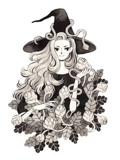 Antics of Yore | heikala: Botanist witch and her serpent...