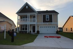 Double front porch Palmer model at Clear Pond.  Myrtle Beach homes for sale.  #clearpond