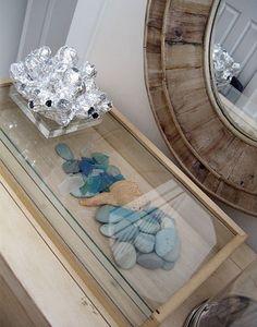 Lisa Sherry Interieurs + Seaglass + Display