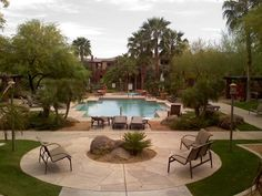 The main pool area. A great place to relax poolside.