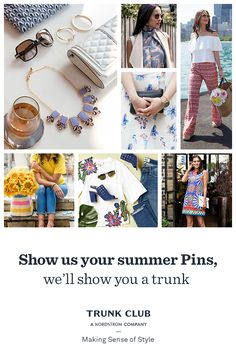 By answering a few questions about your fit, style, and budget, you'll give us a better picture of your personal style. You can even share Pinterest boards of looks you like. Check out Trunk Club today at trunkclub.com to learn more.