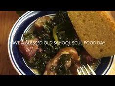 OLD SCHOOL COLLARD GREENS WITH HAM HOCKS - YouTube Ham Hock, Collard Greens, Recipe For 4, Veggie Dishes, Soul Food, Old School, Bacon, Pork, Veggies