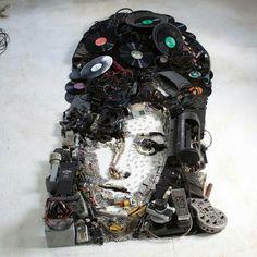 Mixed media by Christian Pierini: Amy Winehouse
