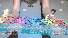 Tuto loom, bracelet élastique large