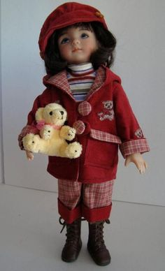 """BEARLY FALL fits 13"""" EFFNER LITTLE DARLING, BETSY McCALL JACKET, PANTS, SKIRT"""