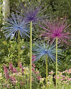 "Everlasting Alliums - Garden Decor - steel 10"" diameter"