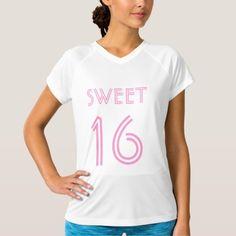 Sweet 16 sixteen t shirt | 16th Birthday girls  https://www.djs.durban
