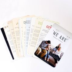 """""""We Are"""" Family Value Cards"""