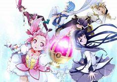 Imagen de anime, puella magi madoka magica, and kyoko sakura