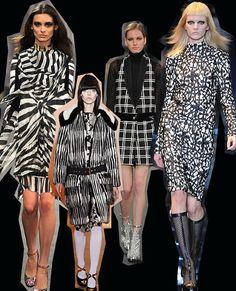 Monochromatic. Milan Fashion Week trends autumn/winter 2012