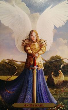 Rehael ~ Self Respect, from the Oracle Of The Angels, by Richard Webster