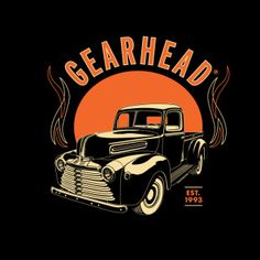e839ae32 Gearhead Vintage Truck Mens T-Shirt Rockabilly Greaser Hot Rods Kustom  Kulture Lowbrow