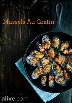 Mussels are a surprisingly good source of vitamin C. Try them in this Mussels Au Gratin recipe.alive.com