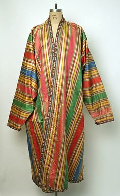 silk robe, early 20th century, central asia