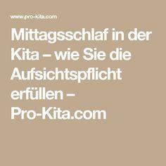 Mittagsschlaf in der Kita – wie Sie die Aufsichtspflicht erfüllen – Pro-Kita.com