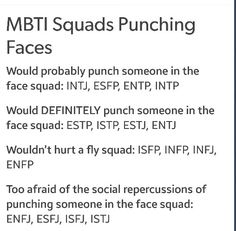 Tick me off the right way then yeah lol Entp ;P MBTI Types + Punching Faces Briggs Personality Test, Personality Psychology, Infj Mbti, Estj, Infj Type, That Way, Just In Case, At Least, Mosquitoes