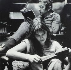 Jane Birkin & Serge Gainsbourg, book lovers & lovers.