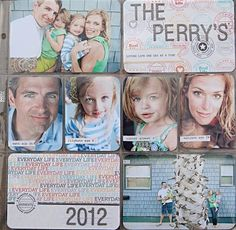 Project Life title page by @Maryann S S Perry : love the addition of the names   ages of each family member.