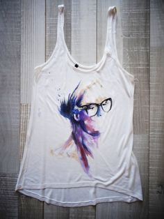 Hand Painted Tshirt / Handmade Tshirt by creationana on Etsy, €35.00