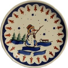 "Polish Pottery Dessert Plate 7.5 Inch by Polish Pottery Market. $12.90. Each piece of Polish Stoneware is handmade and hand-painted.. Origin: Boleslawiec, Poland. Use: Polish Pottery is oven- dishwasher- stove- and microwave oven safe, lead and cadmium free, resistant to chip.. Dimensions: Diameter: 7.7"" Height: 0.95"". The Polish Pottery Dessert Plate, in the Unikat Signature Patterns, will be an excellent addition to your dinner table. Because of the high-quality c..."