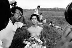 RIP: Kang-Chien Chiu 邱剛健 (1940 - 2013) At the film set of Tang Chao qi li na (唐朝綺麗男), 1985. photo by Chang Chao-tang