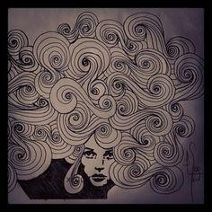 Envuelta en espirales, ilustración, Ivan Egea
