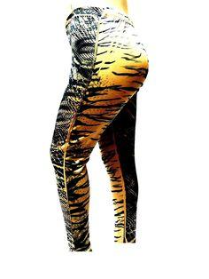 3aec001be4a99 YUMMY PLUS 1273-B SNAKE PRINT KHAKI and BLACK Leggings WOMENS PLUS Size  SKINNY LEG * To view further, visit now : Plus size leggings