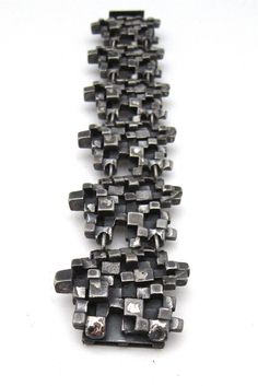 """Canadian Modernist, Guy Vidal - vintage """"cubes"""" bracelet"""