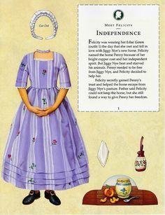 Felicity, 1774 Williamsburg: American Girls Paper Dolls by Pleasant Company, 2005 (3b of 14)