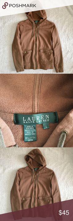 Lauren Ralph Lauren Hoodie Cute sweater great condition. Size large. Lauren Ralph Lauren Sweaters Crew & Scoop Necks