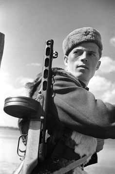Russian Guerrilla near Stalingrad, 1943 by  Unknown Artist